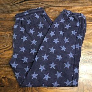 Like new Kensie blue star pajama pants medium